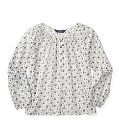 Polo Ralph Lauren® Girls' 2T-6X Long Sleeve Floral Top