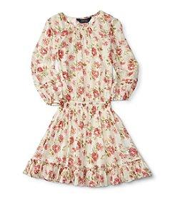 Polo Ralph Lauren® Girls' 2T-6X Long Sleeve Floral Dress