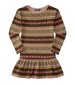 Polo Ralph Lauren® Girls' 2T-6X Dropwaist Fairisle Dress