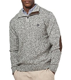 Chaps® Men's Big & Tall Twist Button Mock Sweater