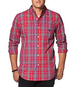 Chaps® Men's Big & Tall Long Sleeve Plaid Button Down Shirt