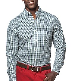 Chaps® Men's Big & Tall Long Sleeve Gingham Button Down Shirt