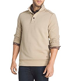 G.H. Bass & Co. Men's Button Mock Neck Fleece Sweater