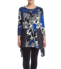 Cupio Plus Size Boat Neck Tunic