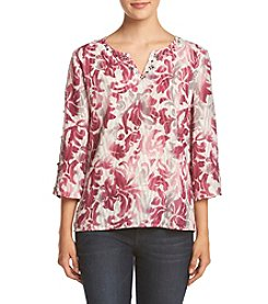 Alfred Dunner® Petites' Veneto Valley Scroll Knit Tunic