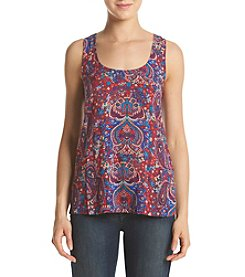 Splendid® Paisley Lace Back Tank