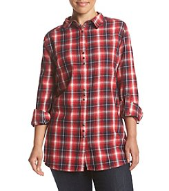 Skylar & Jade™ Plus Size Plaid Flannel Top