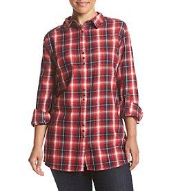 Skylar & Jade™ Plus Size Plaid Flannel Top