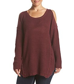 Skylar & Jade™ Plus Size Cold Shoulder Sweater