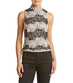 Kensie® Embroidered Lace Top