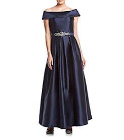 Eliza J® Cold Shoulder Ball Gown