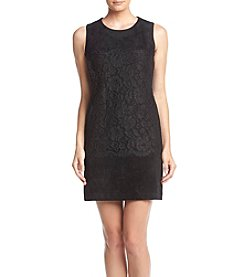 Calvin Klein Faux Suede Lace Dress