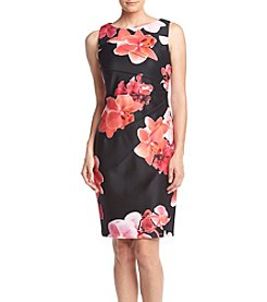 Calvin Klein Floral Sheath Scuba Dress