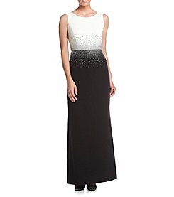 Calvin Klein Embelished Waist Long Gown