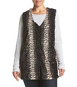 Cupio Plus Size Faux Fur Vest