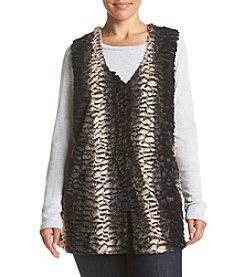 Cupio Plus Size Faux Fur Vest