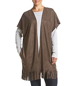 Cupio Plus Size Long Fringe Cardigan