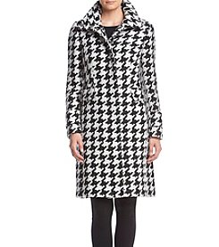 Calvin Klein Exaggerated Houndstooth Walker Coat