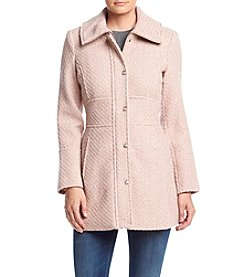 Jessica Simpson Braided Wool Walker Coat