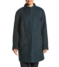 Anne Klein® Plus Size Raglan Sleeve Boucle Pant Coat