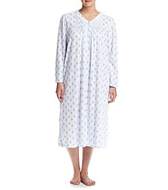 Miss Elaine&Reg; Plus Size Printed Honeycomb Knit Nightgown