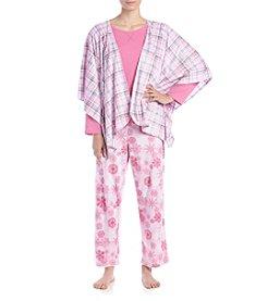 KN Karen Neuburger Poncho Pajama Set