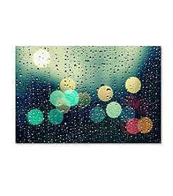 Trademark Fine Art Beata Czyzowska Young 'Rainy City' Canvas Art