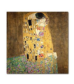Trademark Fine Art Gustav Klimt 'The Kiss 1907-8' Canvas Art
