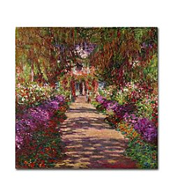 Trademark Fine Art Claude Monet 'A Pathway in Monet's Garden' Canvas Art