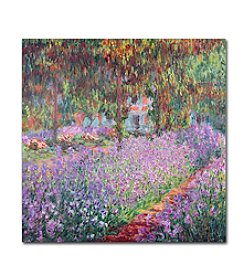 Trademark Fine Art Claude Monet 'The Artist's Garden at Giverny' Canvas Art