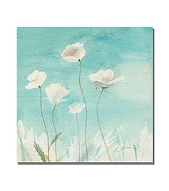 Trademark Fine Art Sheila Golden 'White Poppies'' Canvas Art