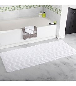 Lavish Home Chevron Bathroom Mat