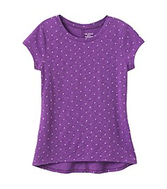 Miss Attitude Girls' 7-16 Short Sleeve Glitter Dot Tee