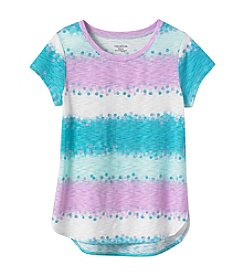 Miss Attitude Girls' 7-16 Short Sleeve Watercolor Stripe Tee