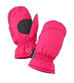 Mambo® Girls' 2T-4T Zig-Zag Quilted Ski Mittens