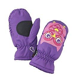 Mambo® Girls' 2T-4T Owl Print Ski Mittens