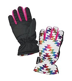 Mambo® Girls' Chevron Rainbow Print Ski Gloves