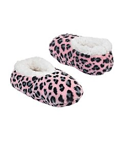 Miss Attitude Girls' Leopard Ballet Slippers