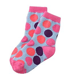 Miss Attitude Girls' Big Dot Slipper Socks