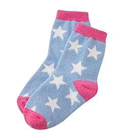 Miss Attitude Girls' Star Slipper Socks