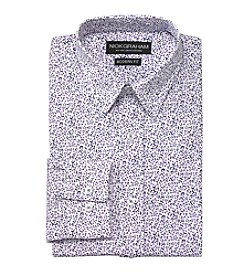 Nick Graham® Men's Purple Floral Long Sleeve Dress Shirt