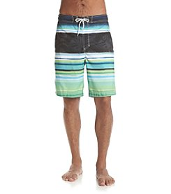 Paradise Collection® Men's Striped Swim Trunks