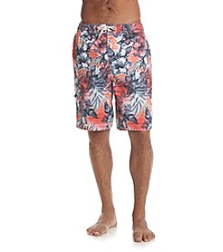 Paradise Collection® Men's Coral Hibiscus Swim Trunks