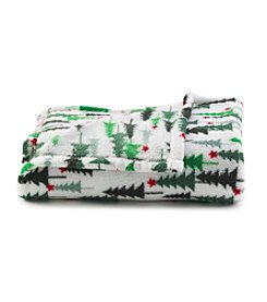 LivingQuarters Holiday Trees Micro Cozy Throw