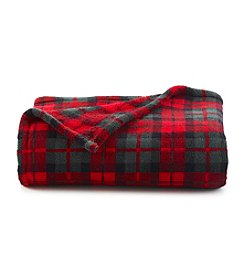 LivingQuarters Holiday Plaid Micro Cozy Throw