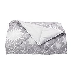LivingQuarters Snowflake Down-Alternative Oversize Throw