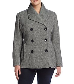 Rampage® Plus Size Carrie Classic Peacoat