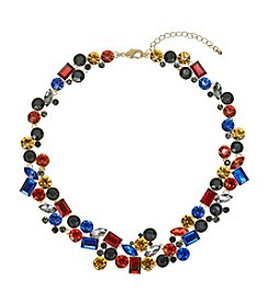 Relativity® Goldtone Multicolor Collar Necklace