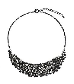 Relativity® Hematite Tone Frontal Shaky Necklace