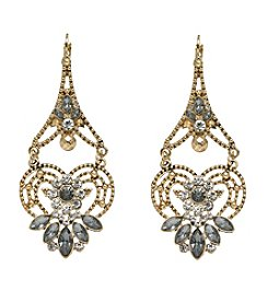 Relativity® Goldtone Crystal Statement Earrings